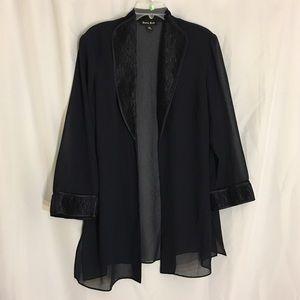 Dana Kay Navy Tunic Blazer & Tank  Dressy Set 16W